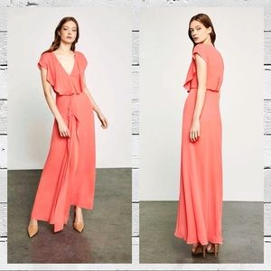 New BCBG Evette Gown in Coral